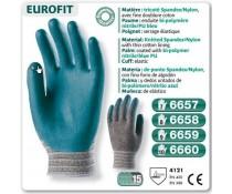 Gants EUROFIT 3 quart enduit Bi-polymer bleu
