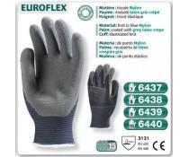 Gants nylon bleu Actifresh EUROFLEX enduit latex gris