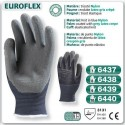 Gants nylon bleu Actifresh EUROFLEX enduit latex gris