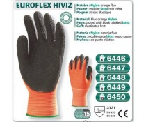 Gants Actifresh orange HIVIZ paume enduit latex noir