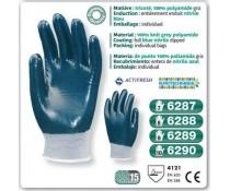 Gants nylon precision Enduit nitrile marine