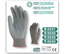Gants precision Nitrile polyamide gris paume mousse Nitrile gris