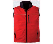 Gilet Softshell sans manches YANG REFLEX rouge