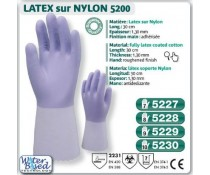 Gant LATEX naturel sur nylon usage ménage