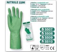 Gant acrylonitrile vert usage ménage