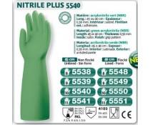 Gant NITRILE PLUS NBR acrylonitrile vert usage ménage