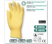 Gant anti coupure KEVLAR tricoté 2 fils kevlar