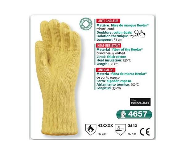 Gant anti coupure anti chaleur kevlar 33 cm - Gants cuisine anti chaleur ...