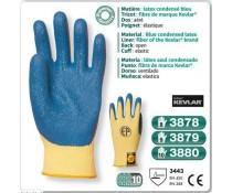 Gant anti coupure KEVLAR latex condensé bleu