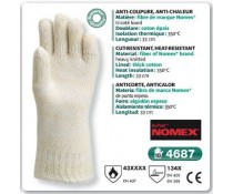 Gant anti coupure anti chaleur NOMEX tricoté lourd 33 cm