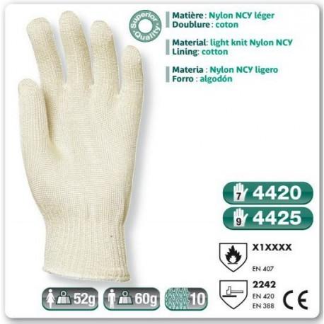 Gant anti coupure et anti chaleur nylon ncy leger for Gant anti chaleur cuisine