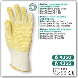 GANT tricoté 100 % coton avec poignes et picots