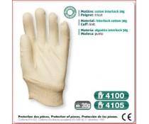 Gant cousus coton interlock 30g