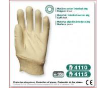 Gant cousus coton interlock 40g