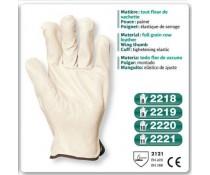 Gant maitrise elastique de serrage blanc