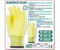 Gant Haute visibilité EUROICE jaune FLUO tricoté sans coutures