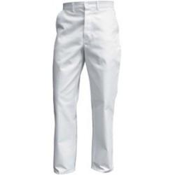 Pantalon de travail Basique en Coton blanc