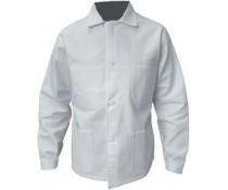 Veste de travail Basique en Coton blanc