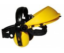 Serre-tête EARLINE jaune pour visiere pour casque anti bruit
